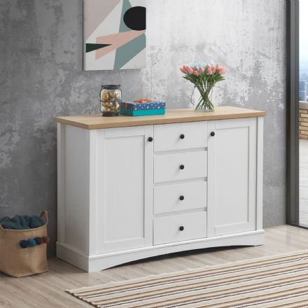Carden White Sideboard with 2 Doors & 4 Drawers
